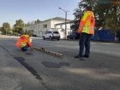 В этом году на ремонт дорог в городе Назарово выделили меньше средств
