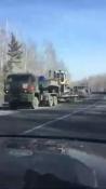 Жители города Назарово и Ачинска увидели колонну военной техники