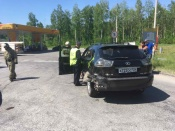 Мотоциклист, попавший в ДТП на трассе Назарово-Ачинск, жив