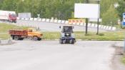 За несколько дней дорожники убрали с назаровских дорог 80 тонн мусора
