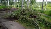 Работы по благоустройству мемориала в городе Назарово в самом разгаре