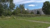 На заросшем пустыре в городе Назарово выкосили пешеходные дорожки
