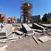В Назарове начали обустраивать Аллею памяти от администрации до музея