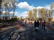 В посёлке Бор активно приступили к завершению благоустройства