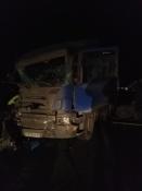 В ДТП недалеко от города Назарово погиб тракторист. Движение затруднено