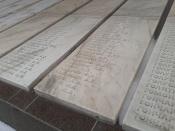 На мемориале вновь установили плиты с именами погибших солдат