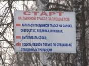 В городе Назарово происходят столкновения лыжников и пешеходов
