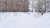 Общественные пространства города Назарово утопают в снегу