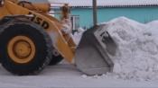 За сутки в городе Назарово выпала почти месячная норма осадков. Дорожные службы работают в усиленном режиме