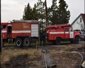 В Назаровском районе произошел пожар в летней кухне, есть пострадавшие